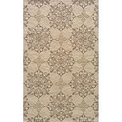 Momeni Veranda Beige Moroccan Tile Indoor/Outdoor Rug (2' X 3')