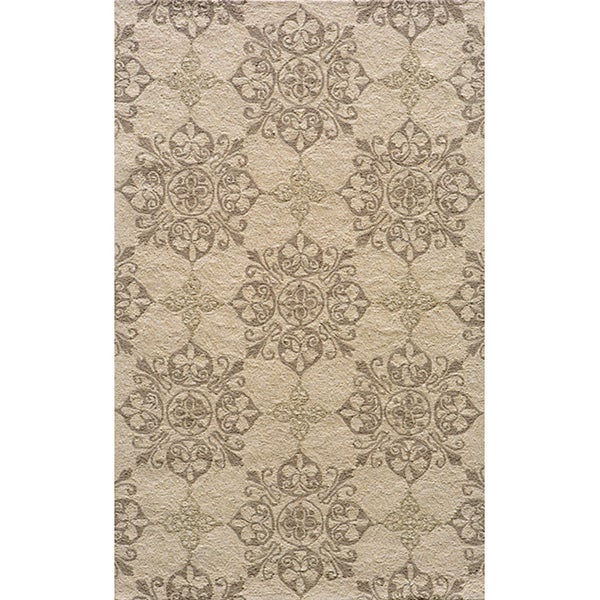 Indoor/Outdoor South Beach Beige Medallions Rug (8' x 10')