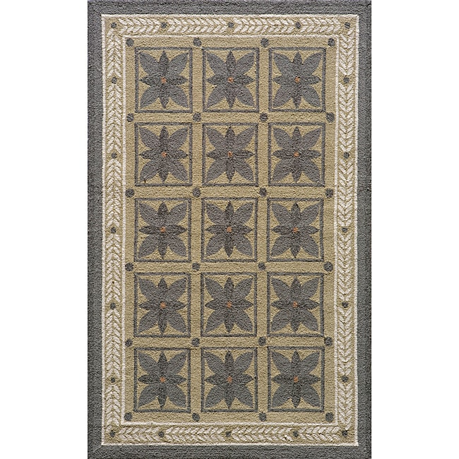Indoor/ Outdoor South Beach Grey Garden Rug (2' x 3')