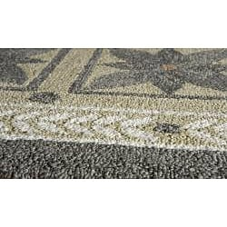 Indoor/ Outdoor South Beach Grey Garden Rug (2' x 3') - Thumbnail 1