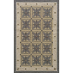 Indoor/ Outdoor South Beach Grey Garden Rug (3'9 x 5'9)