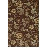 Momeni Veranda Brown Floral Indoor/Outdoor Rug (5' X 8') - 5' x 8'