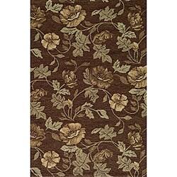 Momeni Veranda Brown Floral Indoor/Outdoor Rug (2' X 3')