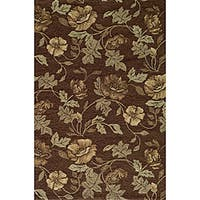 Momeni Veranda Brown Floral Indoor/Outdoor Rug (8' X 10')