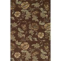 Momeni Veranda Brown Floral Indoor/Outdoor Rug - 8' x 10'