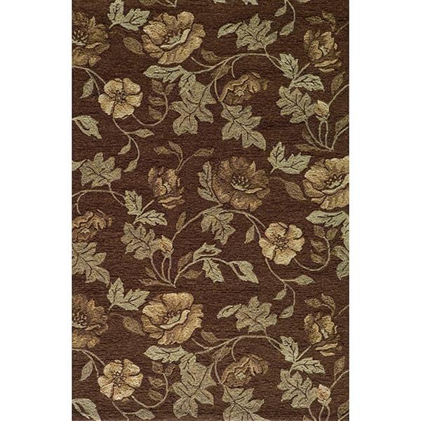 Momeni Veranda Brown Floral Indoor/Outdoor Rug (8' X 10')