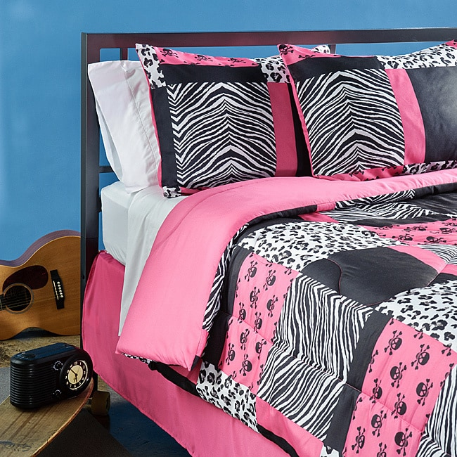 Veratex Sassy Patch 3-piece Twin-size Comforter Set (Pink...