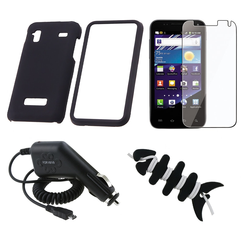 INSTEN Case Cover/ LCD Protector/ Charger/ Wrap for Samsung Captivate Glide i927