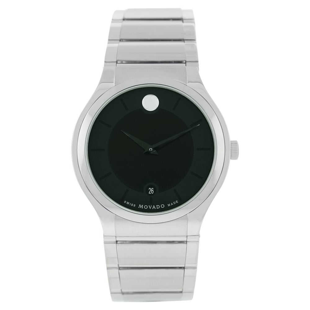 Movado Men's 606478 Quadro Stainless Steel Watch