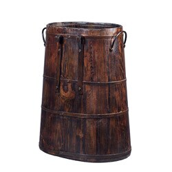 Vintage Chinese Barrel with Iron Rings