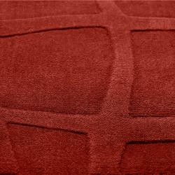 Candice Olson Loomed Red Piray Abstract Plush Wool Rug (8' x 11')
