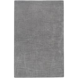 Loomed Gray Ichoa Abstract Plush Wool Area Rug - 9' x 13' - Thumbnail 0