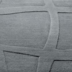 Loomed Gray Ichoa Abstract Plush Wool Rug (8' x 11')