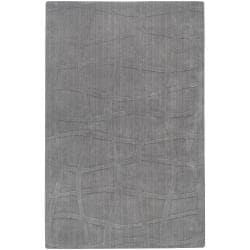 Loomed Gray Ichoa Abstract Plush Wool Area Rug (8' x 11') - 8' x 11' - Thumbnail 0