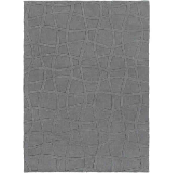 8 X 11 Area Rugs On Sale: Shop Loomed Gray Ichoa Abstract Plush Wool Area Rug
