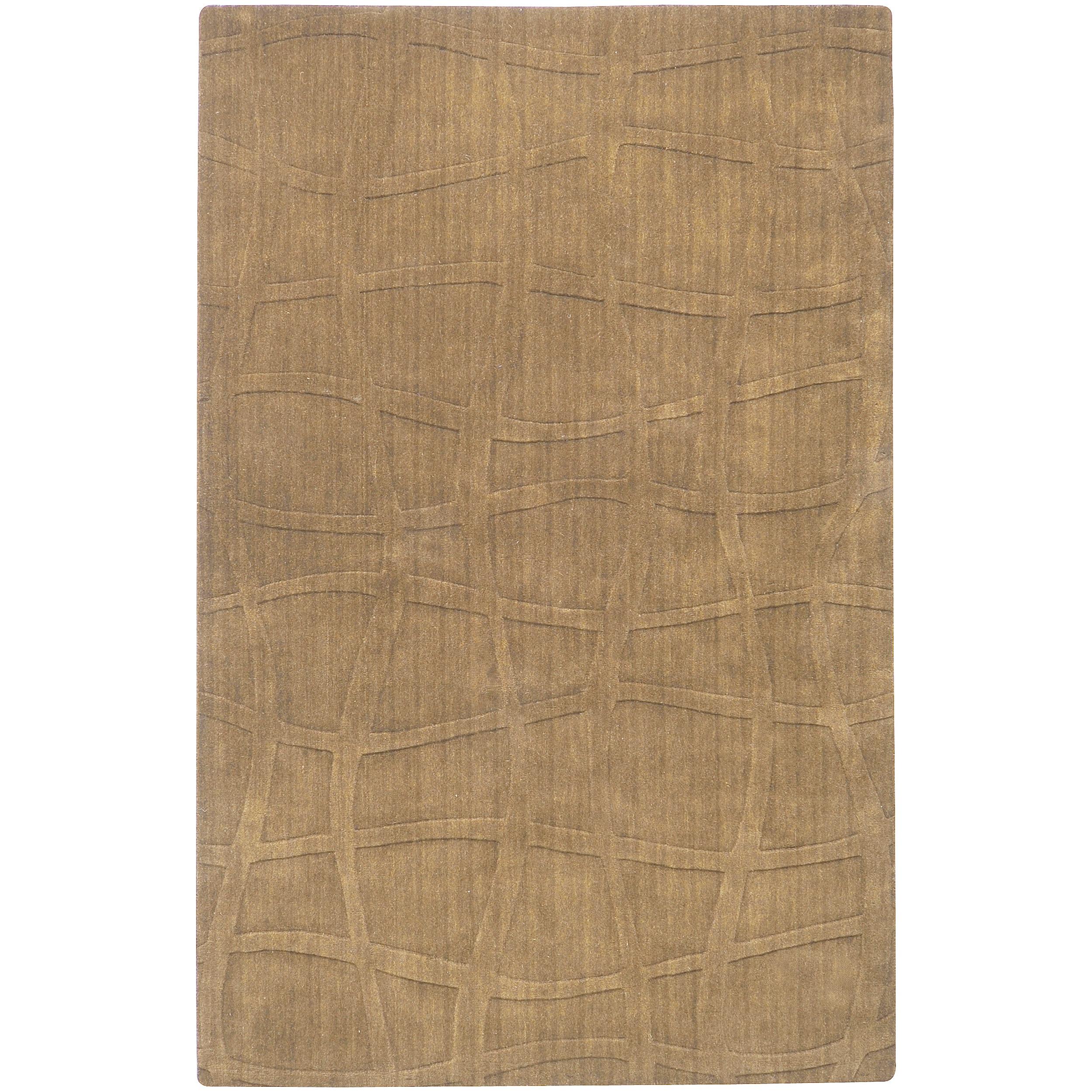 Candice Olson Loomed Green Ibare Abstract Plush Wool Rug (5' x 8')