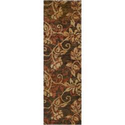 Hand Woven Gray Curico Classic Floral Hemp Rug (2u00276 X ...