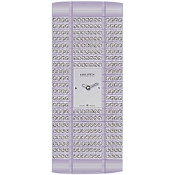 Haurex Women's Italy Lavendar Crystal Watch