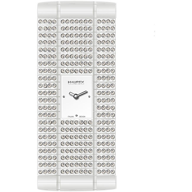 Haurex Women's Italy White Natural Crystal Watch