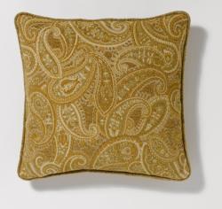 Corona Decor Corded Paisley-Pattern 18-Inch Decorative Pillow