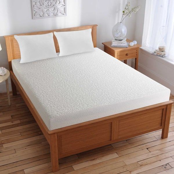 shop splendorest theragel 8 inch queen size gel memory foam mattress in a box free shipping. Black Bedroom Furniture Sets. Home Design Ideas