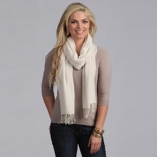 Link to Peach Couture Solid White Rayon Pashmina Shawl Wrap Similar Items in Scarves & Wraps