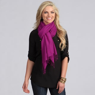 Peach Courture Magenta Wool Shawl