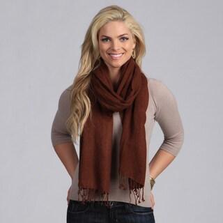 Peach Courture Chocolate Brown Wool Shawl