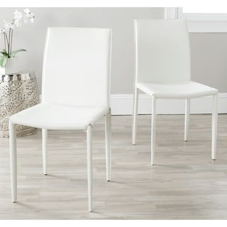 buy white leather kitchen dining room chairs online at overstock rh overstock com white leather modern dining room chairs white leather dining room chairs sale