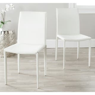 White, Leather Kitchen & Dining Room Chairs For Less | Overstock