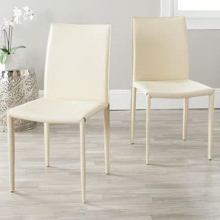 Cream Leather Kitchen Dining Room Chairs Online At Our Best Bar Furniture Deals