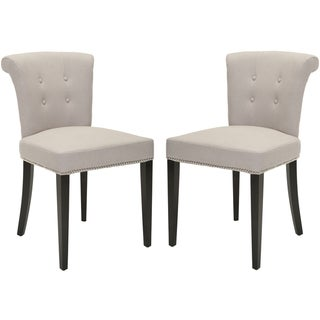 Safavieh En Vogue Dining Carrie Taupe Dining Chairs (Set of 2)