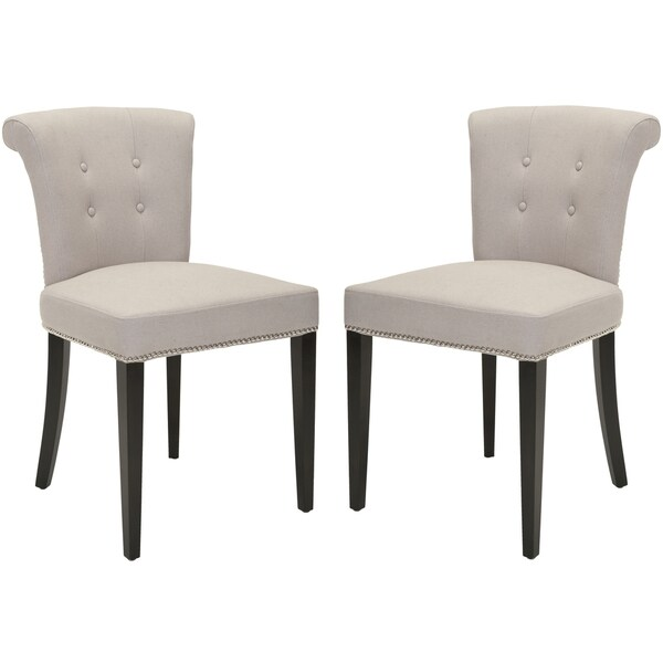 Safavieh En Vogue Dining Carrie Taupe Side Chairs (Set of 2)