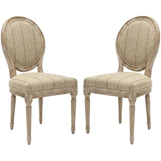 Safavieh Old World Dining French Royale Oval Antiqued Taupe Dining Chairs (Set of 2)