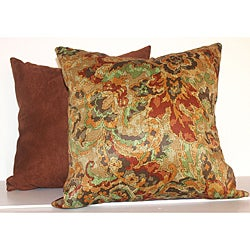 Fire Floral Rustic Red 16-inch Square Decorative Pillows (Set of 2)