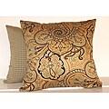 Paddock Shawl Spa 16-inch Square Paisley Decorative Pillows (Set of 2)