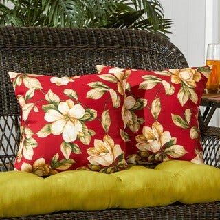 17-inch Outdoor RomaFloral Square Accent Pillow (Set of 2)