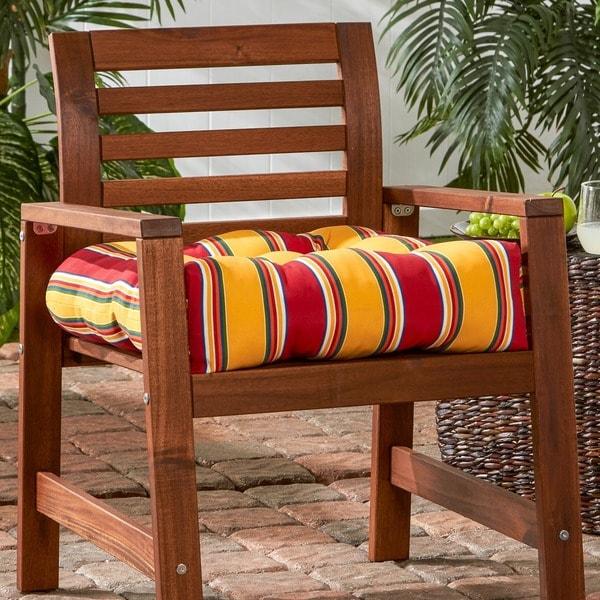 Shop Havenside Home Elminton Stripe 20 Inch Outdoor Chair Cushion