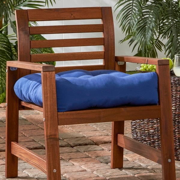 20-inch Outdoor Marine Blue Chair Cushion