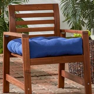 20-inch Outdoor Marine Blue Chair Cushion