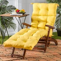Porch & Den Rosewood Graham 72-inch Outdoor Yellow Chaise Lounger Cushion