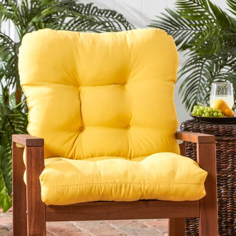 Driftwood Outdoor Yellow Seat/ Back Chair Cushion by Havenside Home - 21w x 42l
