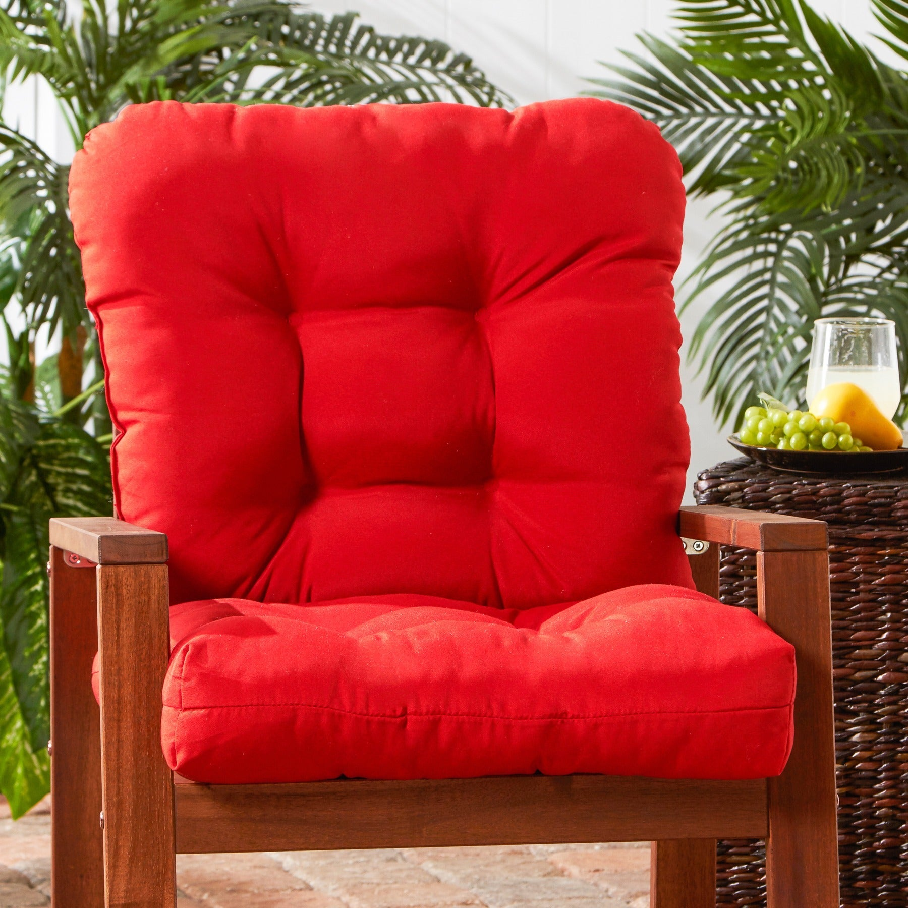 Shop Outdoor Salsa Red Seat Back Chair Cushion Free Shipping On