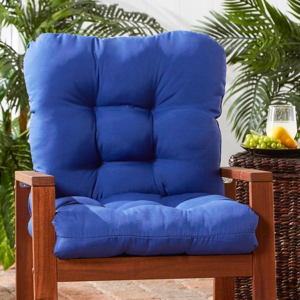 greendale home fashions outdoor marine seat back chair cushion 21w x 42l free shipping today. Black Bedroom Furniture Sets. Home Design Ideas