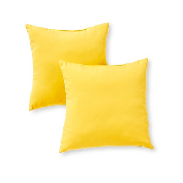 Yellow Outdoor Throw Pillows.Havenside Home Driftwood Yellow Outdoor 17 Inch Accent Pillow Set Of 2