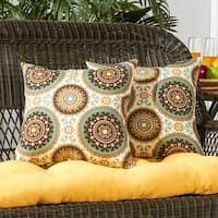 Greendale Home Fashions Spray Outdoor Accent Pillow, Set of 2 - 17w x 17l