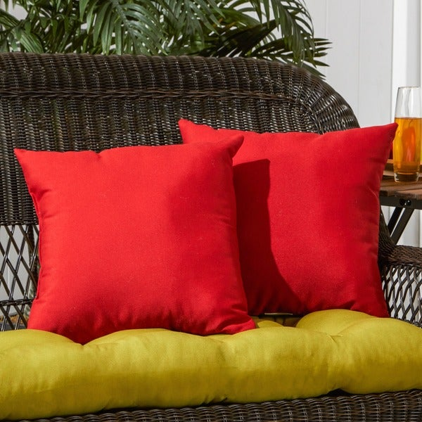 17-inch Outdoor Salsa Square Accent Pillow (Set of 2)