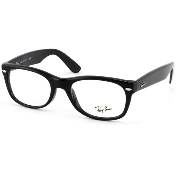 b24012f135 Shop Ray-Ban RX 5184  New Wayfarer  52-mm 2000 Black Eyeglasses ...
