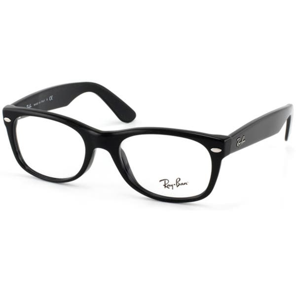 f5b475ec3e57 Shop Ray-Ban RX 5184 'New Wayfarer' 52-mm 2000 Black Eyeglasses ...