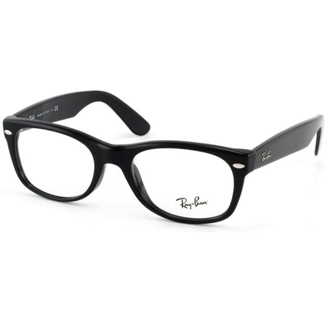 Ray-Ban RX 5184 New Wayfarer 50-mm 2000 Black Eyeglasses ...